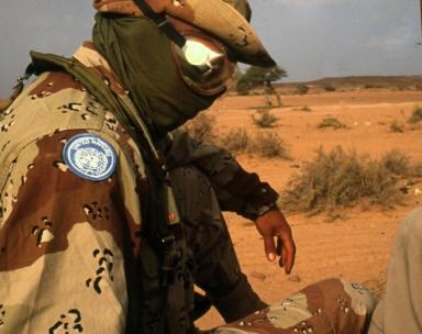 Officier de la MINOURSO:   Mission des Nations Unies pour l'organisation  d'un référendum au Sahara occidental